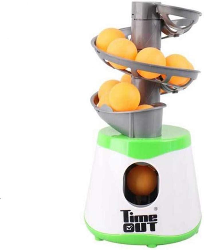 MY-COSE Mini Mesa De Ping Pong Robot, Mesa De Ping Pong Remitente del Cabeceo Servir Máquina Trainer, con La Raqueta Y 10 Bolas De Ping-Pong, para El Estudiante Entre Padres E Hijos,Verde: