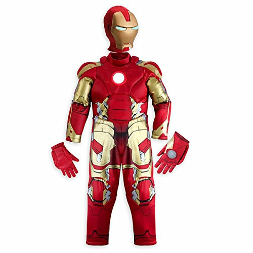 Disney Store Iron Man Light Up Halloween Costume Marvel's Avengers (Smal 5-6) (Tony Stark Halloween Costume)