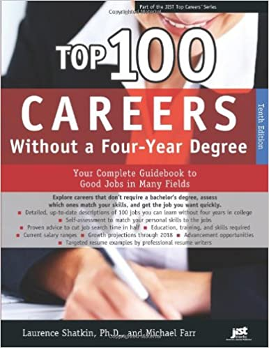 top 100 careers without a four year degree your complete guidebook