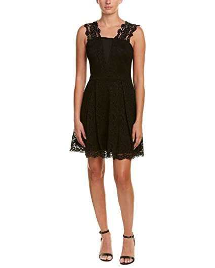 Amazon Adelyn Rae Womens Felicity Fit And Flare Dress Black