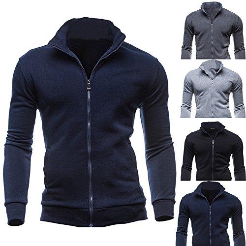 Slim De Jacket Armada Stand Sudadera Sweater Hombres Liquidación Collar Zipper Cebbay Los wHqRSW8