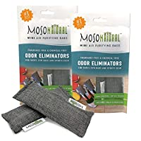 MOSO NATURAL Shoe Odor Eliminator. Air Purifying Bag for Sneakers, Gym Bags and Sports Gear.