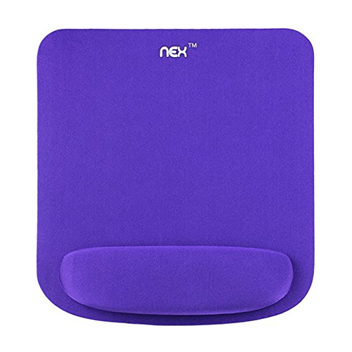 NEX Mouse Pad Wrist Rest Pad Comfortably Made of Memory Foam for Surfing and Gaming (Purple)