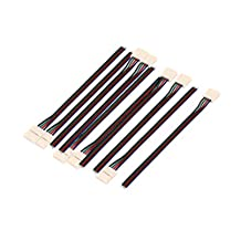 uxcell® 10Pcs 15cm Long 10mm Width 4 Pin Wire Connector for Led 5050 RGB Strip