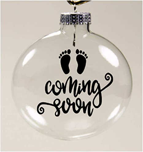 Pregnancy Announcement Photo Christmas Ornament Baby Coming 2021 Photo Ornament We Didn/'t Stay 6 Feet Apart Ultrasound Christmas Ornament