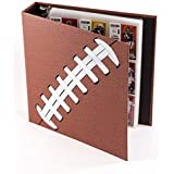 Pigskinz 3-Ring Football Card Binder | Looks and Feels Like a Real Football | Premium Embossed Paper Football Card Album with Patented Design