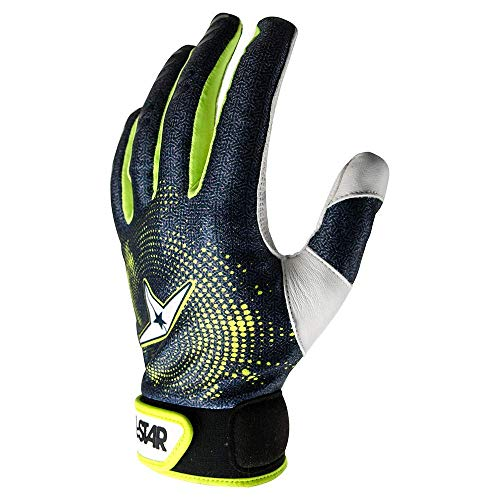 All-Star Adult Full Palm Protective Inner Glove Black Protective Baseball Glove