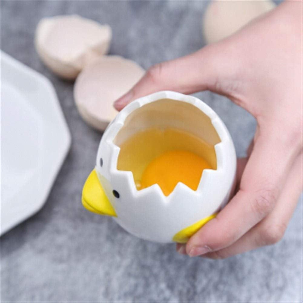RxDZY NXiang separador de huevo blanco de cerámica separador ...