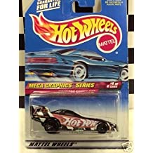 Mattel Hot Wheels 1999 1:64 Scale Mega Graphics Series Firebird Funny Car Die Cast Car 4/4