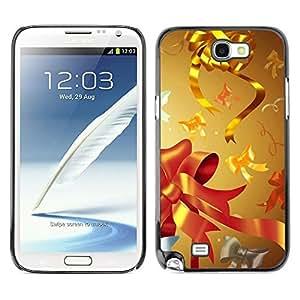 YOYO Slim PC / Aluminium Case Cover Armor Shell Portection //Christmas Holiday Gold Decorations 1070 //Samsung Note 2