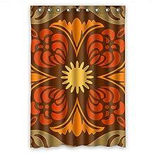 Sagatek Bohemian Polyester Bath Curtains Width X Height / 48 X 72 Inches / W * H 120 By 180 Cm For Wife Boys Him Kids Girl Gf. Modern Design. Fabric Material