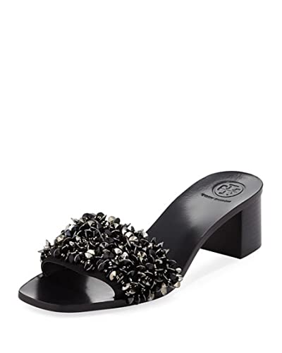 bef97bfa91ee Tory Burch Logan Embellished Slide Sandals Black (7)