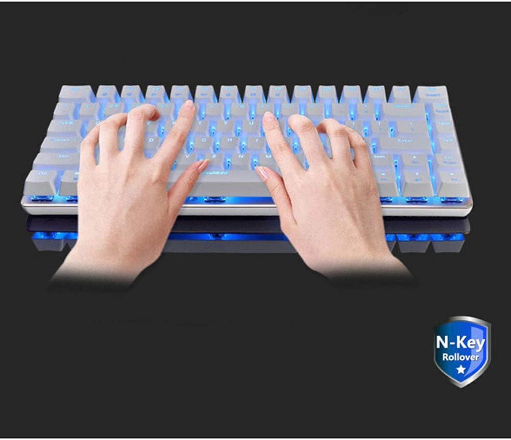 DZSF RGB Backlight Gaming Mechanical Keyboard 82 Key Layout USB Wired Anti-Ghosting Switch Pc Gamer