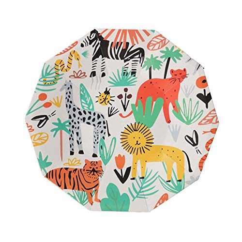 24 Count Disposable Plates Woodland Animal Party Paper Plates for Dinner Dessert - Baby Shower/Kids Birthday Party Supplies ()
