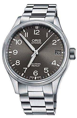 Oris Big Crown ProPilot 41MM Grey Face Automatic Stainless Steel Bracelet Date Swiss Watch 75176974063MB (Oris Tt1 Day Date Automatic 7517 41)