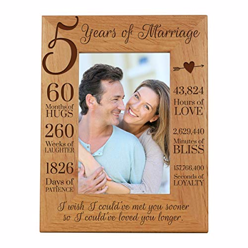 LifeSong Milestones 5th Anniversary Picture Frame 5 Years