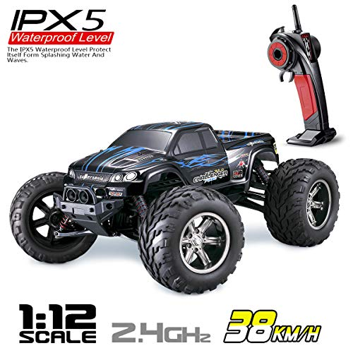 Hosim All Terrain RC Car 9112, 38km/h 1/12 Scale Radio Controlled Electric Car - Offroad 2.4Ghz 2WD Remote Control Truck - Best Christmas Gift for Kids and Adults - Truck Remote Controlled Monster
