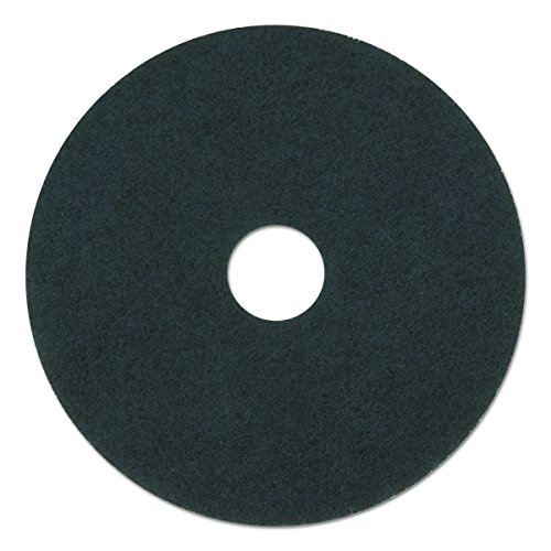 "Boardwalk 4012BLA Standard Stripping Floor Pads, 12"" Diameter, Black (Case of 5)"