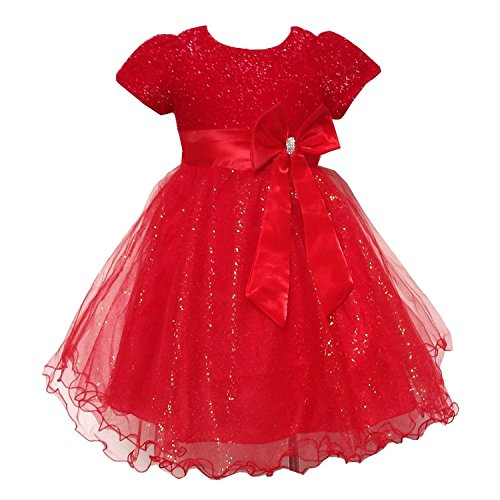 BAOHULU Toddler Sparkle Brilliant Bridesmaid