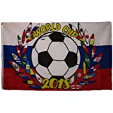 Moon Knives 3x5 International World Cup 2018 Russia Soccer Reef Crest Flag 3x5 Grommets - Party Decorations Supplies For Parades - Prime Outside, Garden, Men Cave Decor Flag