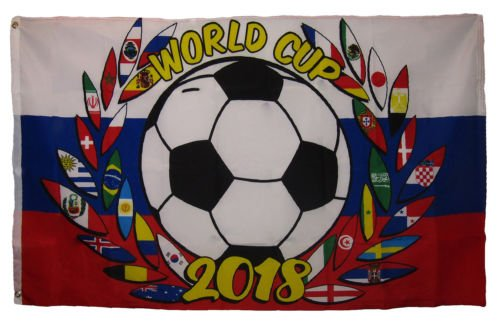 Moon 3x5 International World Cup 2018 Russia Soccer Reef Cre