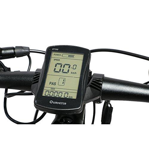 MTB Bicicleta de montaña ExtrbiciXT750 Hombres 17 x 26 pulgadas plegable bicicleta eléctrica montaña 500 W 48 V Shimano 27 velocidades aleación de aluminio ...