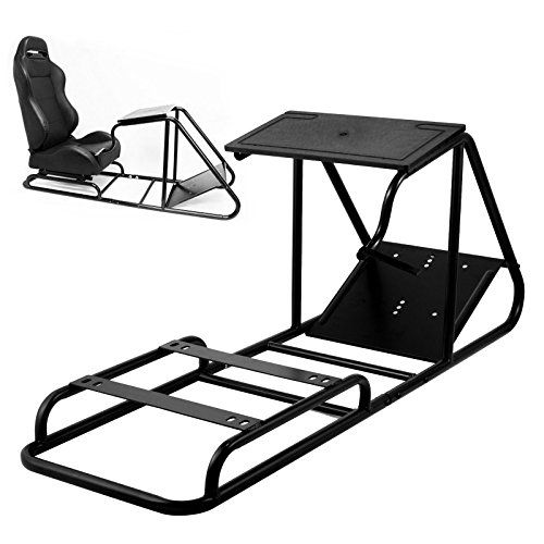 Vevor Racing Simulator Cockpit Height Adjustable Racing Wheel Stand with Logitech G25, G27, G29, G920 Next Level Racing Wheel and Pedals Not Included. (T300RS/PS4/PS3)