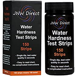 JNW Direct Water Total Hardness Test Strips, Best Kit for Accurate Water Quality Testing To Determine Soft or Hard Water, 150 Strip MEGA PACK