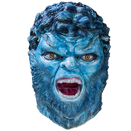 Beast Mask X-Men Blue Full Head Adult Halloween Cosplay Costume Accessory -