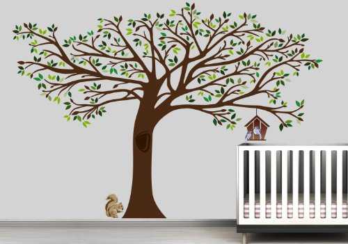 7.5 Ft. Tall X 10 Ft. Wide NEW Large Tree Wall Decal Deco Art Sticker Mural by Digiflare Graphics