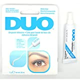 1 DUO WHITE CLEAR STRIPLASH ADHESIVE GLUE WATERPROOF EYELASHES LASH 240592 + FREE EARRING