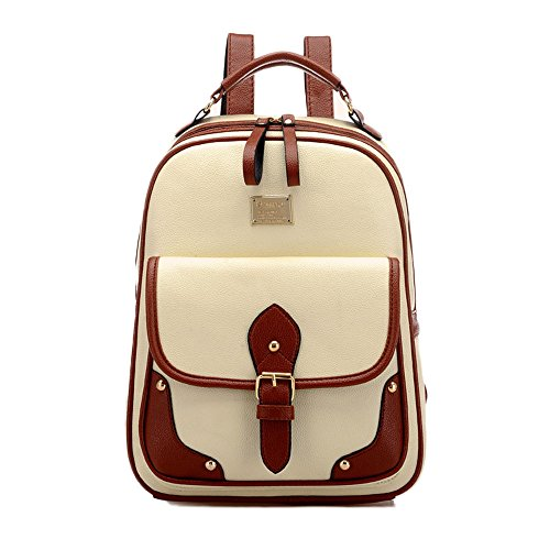 Vintage Women Girls PU Leather Backpack Fashion School Rucksack Shoulder Bag