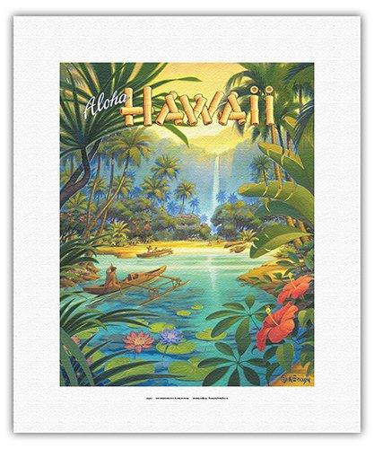 Aloha Hawaii - Vintage Style Hawaiian Travel Poster by Kerne Erickson - Fine Art