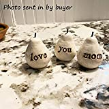 Gift for Mom, White Love You Mom Pears, Mom