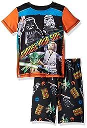 LEGO Star Wars Little Boys\' Rule the Galaxy\' Pajama Set, Black, 6/7
