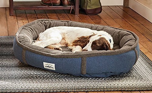 Orvis Memory Foam Wraparound Dog Bed With Fleece / Large Dogs 60-90 Lbs., Heathered Blue, by Orvis
