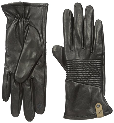 Mackage Women's Nira Leather Touchscreen Glove with Ribbe...