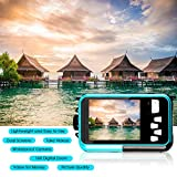 Waterproof Camera Full HD 1080P Underwater Camera 24 MP Video Recorder Selfie Dual Screen DV Recording 16X Digital Zoom Waterproof Digital Camera for Snorkeling