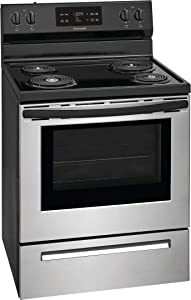 "Frigidaire FFEF3016VS 30"" Freestanding Electric Range with 5.3 cu. ft. Capacity Auto Shut-Off Electronic Kitchen Timer One-Touch Self Clean Delay Clean Interior Lighting in Stainless Steel"