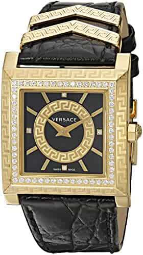 Versace Women's VQF050015 DV-25 Analog Display Swiss Quartz Black Watch