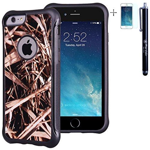 [해외]트루 컬러 케이스와 호환 아이폰 6s 플러스 케이스 5.5 \\ / True Color Case Compatible with iPhone 6s Plus Case 5.5 Grass Hunter Real HD Tree Camo Emboss Printed Impact Resistant TPU Protective Anti-Slip Grip Snap-On Soft Rugged Cover