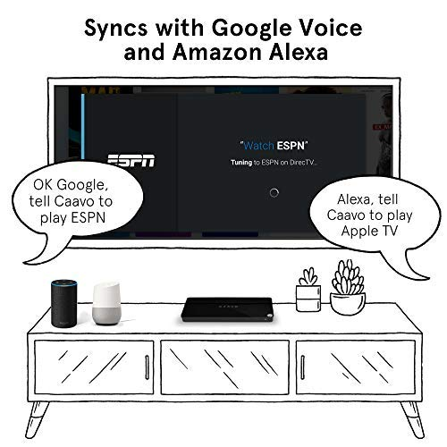 Caavo Universal Remote & Smart Home Hub/HDMI Switch w/Voice for Roku, Apple  TV, Nvidia Shield, Streaming Sticks, Sonos,Netflix,Hulu,YouTube, Cable/Sat