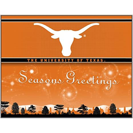 Amazon texas longhorns holiday greeting cards sports outdoors texas longhorns holiday greeting cards m4hsunfo