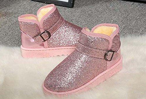 ANBOVER Womens Girls Winter Warm Snow Boots Pink zAKzsnvdQ