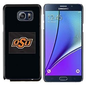 Qstar Arte & diseño plástico duro Fundas Cover Cubre Hard Case Cover para Samsung Galaxy Note 5 5th N9200 (OSU)