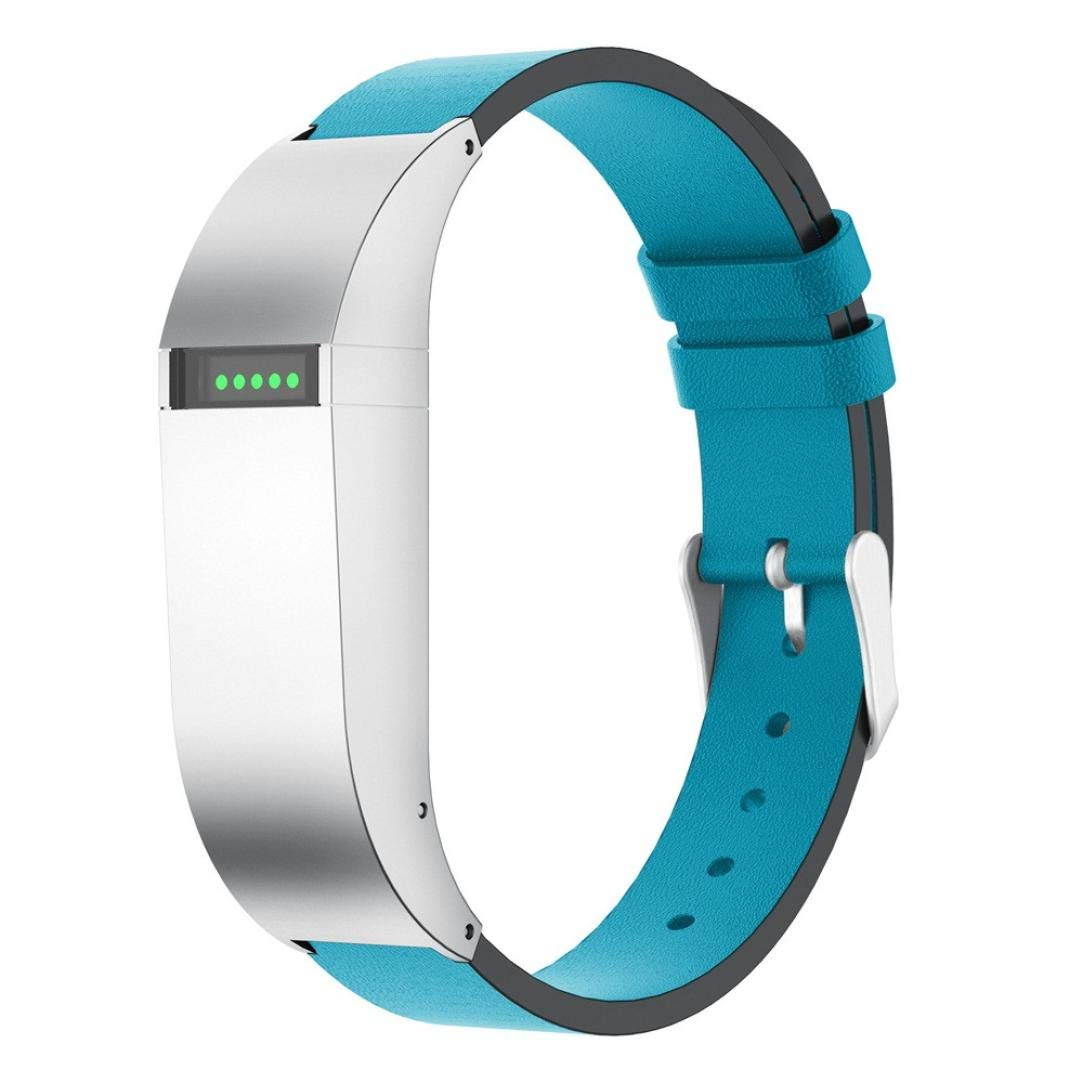 Sunbona for Fitbit Flex Bracelet Strap, Fashion Smooth Leather Double Clasp Healthy Sports Adjustable Replacement Bangle Men Women Wrist Band (A) S-0g3