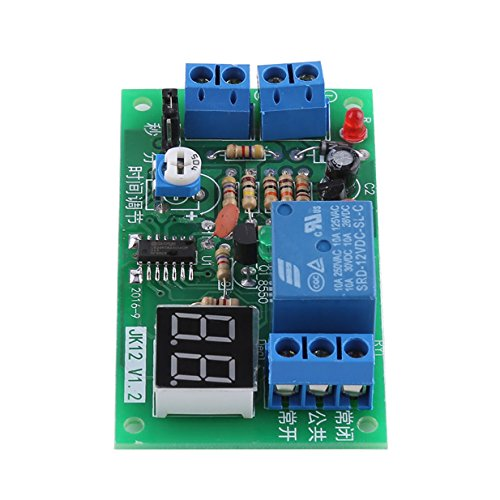 DC 12V LED Display Countdown Timing Timer Delay Turn OFF Relay Switch Module Trigger Delay Off 1-99 S/ 1-99 Min Adjustable