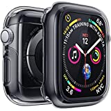 Penom Case for Apple Watch Screen Protector Series 4 40mm, Ultra Thin iWatch 40mm Screen Protector with Full Protection TPU Cover Space Gray