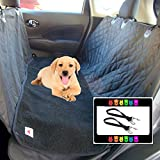 The Ultimate Waterproof Non-slip Pet Seat Cover Hammock and Soft Washable Black Fleece Dog Bed - 2 Piece Set - 58
