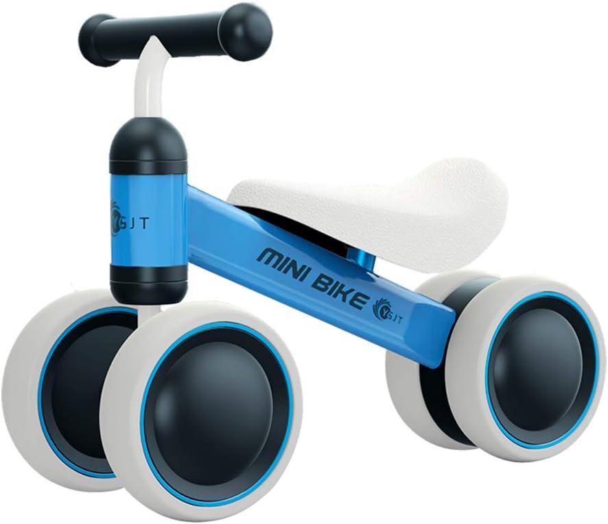 YGJT Bicicletas sin Pedales 1 Año(10-18 Meses) Triciclos Bebes Correpasillos Juguetes Regalos bebé Bici sin Pedales niño (Azul)